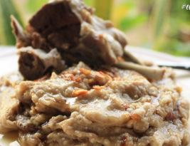 #Recipe ~ Bubur Terigu Kambing (Wheat Porridge with Lamb)