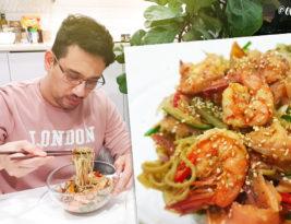 Soba Salad with Smoked Salmon & Prawn