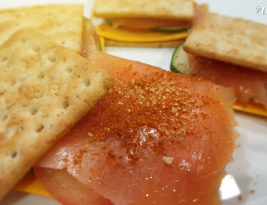 Smoked Salmon Crackers Sandwich